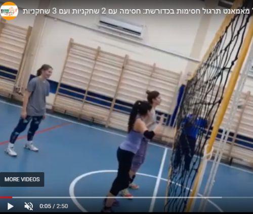 סרטון: תרגול חסימות מסוגים שונים בכדורשת
